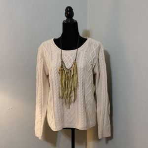 Monteau cable knit sweater